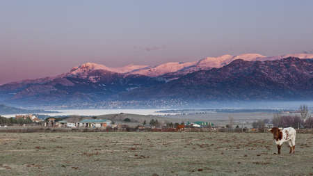 Sunrise in the Sierra de Guadarrama, Madrid.