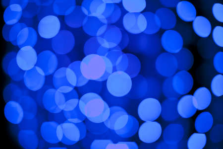 Defocused Abstract christmas lights as background Stock Photo