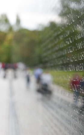 Vietnam War Memorial in Washington, D C