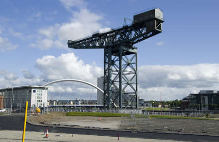 Finnieston Crane on the quayside on the River Clyde, Glasgow  UK