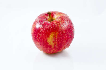Red apple, shot on a white background