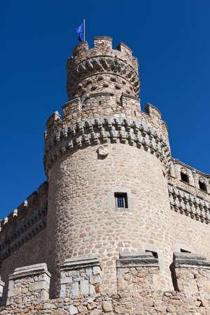 Medieval castle in Manzanares del Real, Spain