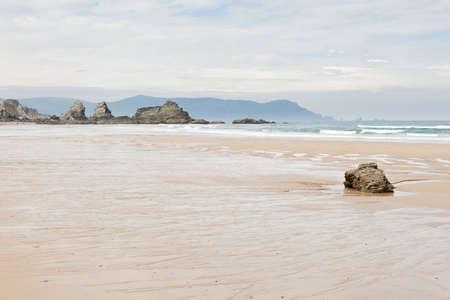 galicia: Beach near Loiba, Galicia  Spain  Stock Photo