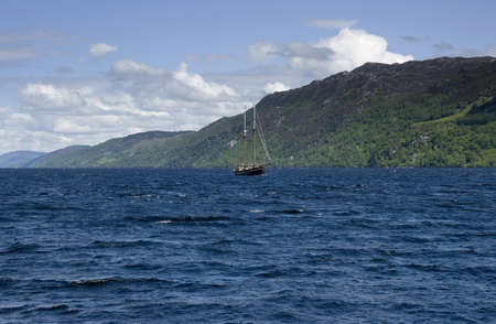 The famous Loch Ness in the scottish highlands