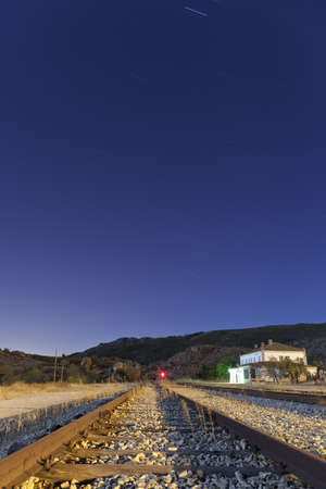 Abandoned railway station, Bustarviejo  Spain Stock Photo
