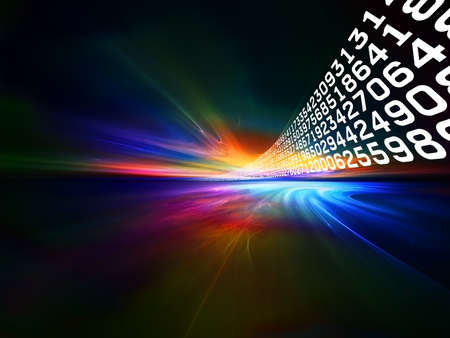 Interplay of words and forms in three dimensional space on the subject of Internet, modern and future  technologies, communications and computing Stock Photo - 12782527