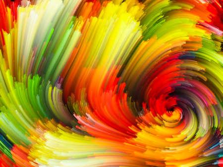 astratto: Disegno astratto fatto di nuvole frattali colorati ed elementi grafici sul tema della forze della natura, dell'arte, del design e della creatività
