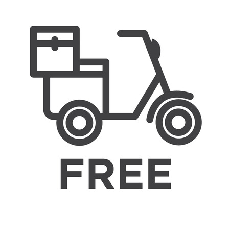 Motorbike vector icon Ilustrace
