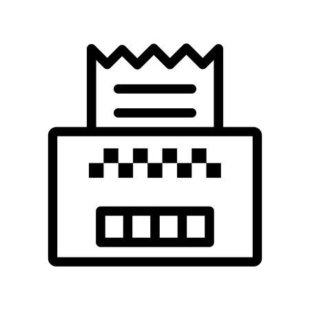 Invoice vector icon Illustration