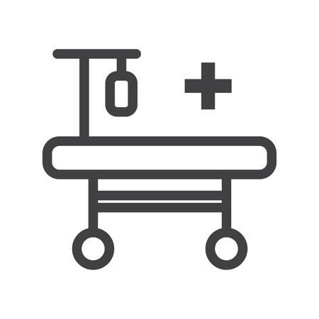 Hospitalization vector icon