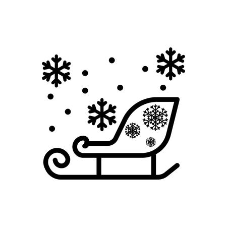 Sled vector icon Illustration