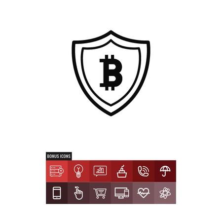 Bitcoin vector icon