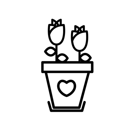 Flower valentines day vector icon