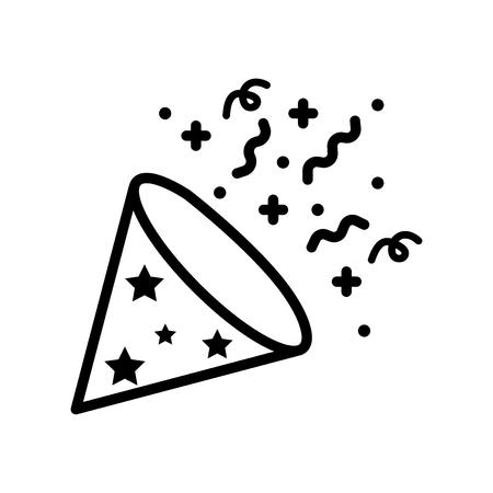 Confetti vector icon Illustration