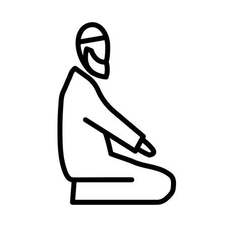 Namaz islamic prayer vector icon