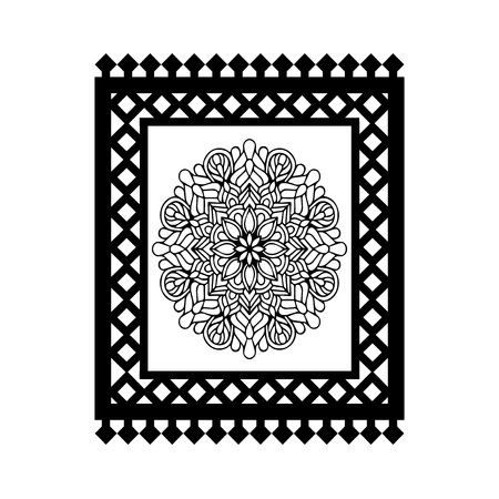 Islamic carpet vector icon Illustration