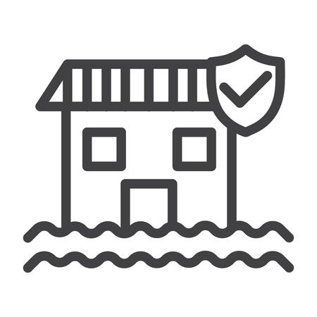 Flood vector icon Illustration
