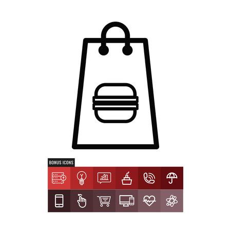Bag premium vector icon Illustration