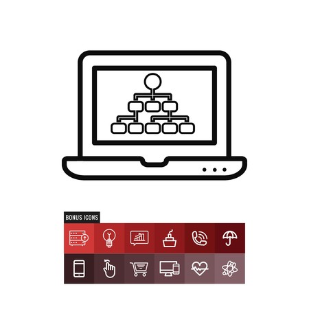 Hierarchical structure vector icon
