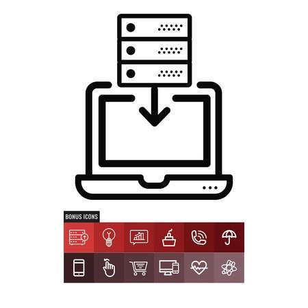 Server vector icon