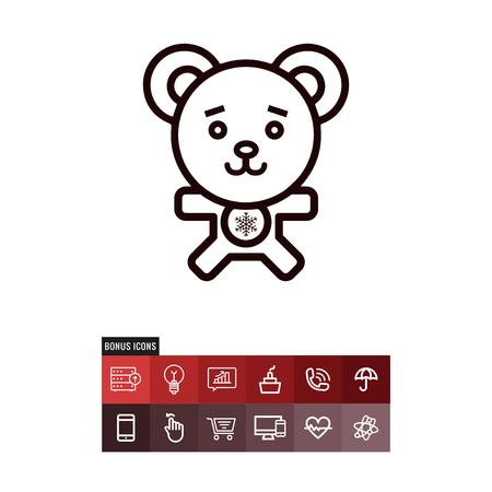 Teddy bear vector icon