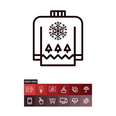 Sweater vector icon Illusztráció