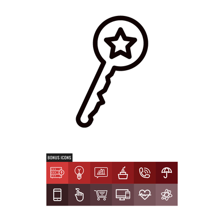 Key vector icon