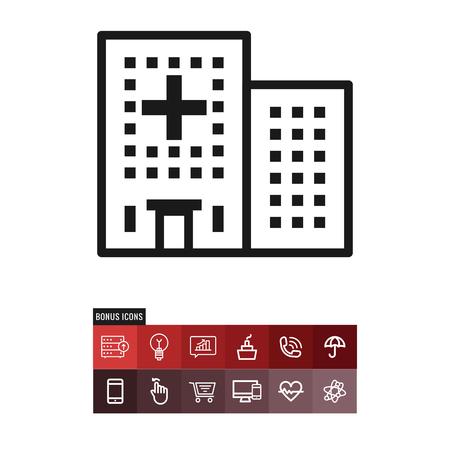 Hospital vector icon Illustration