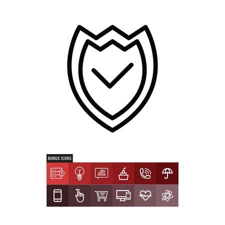 Shield vector icon Vetores