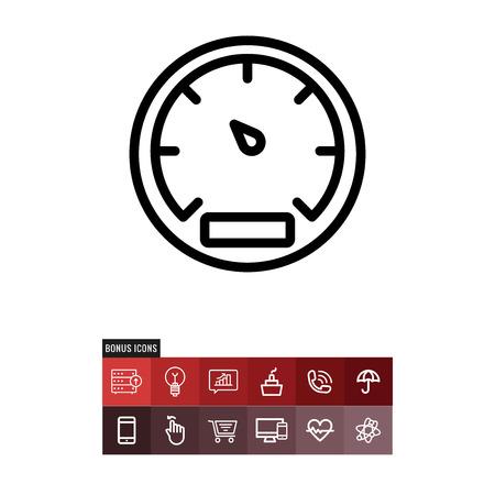 Gauge vector icon