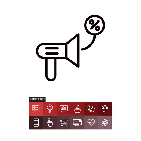 Announcement cyber monday vector icon