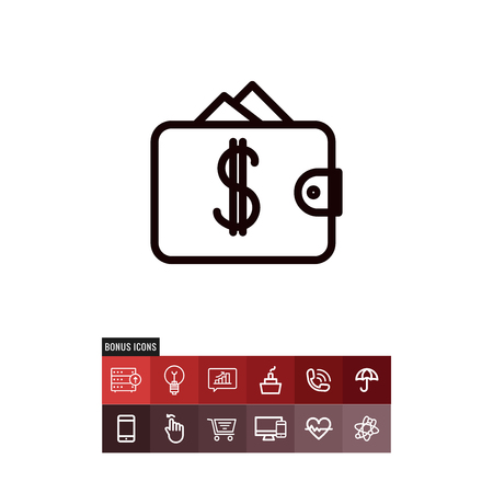 Wallet black friday vector icon