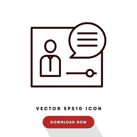 Video call vector icon