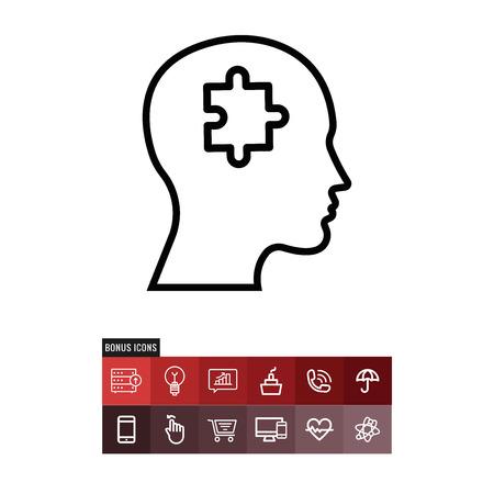 Solution vector icon Ilustracja