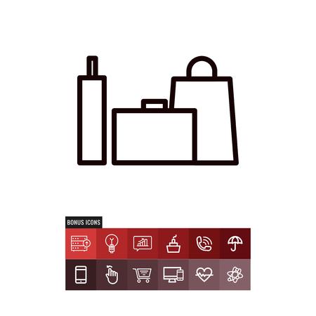 Shopping bangs black friday vector icon