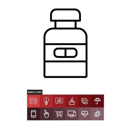 Pils vector icon