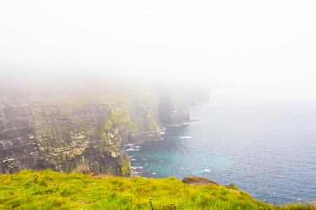 moher: Foggy Cliffs of Moher Stock Photo