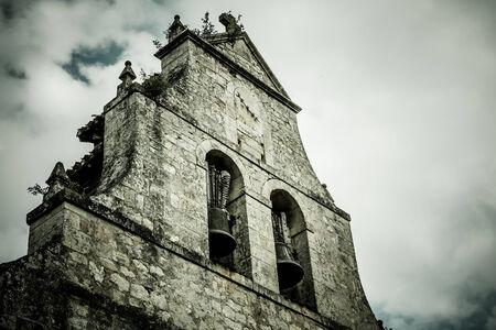 Dramatic Ancient Church Belfry photo