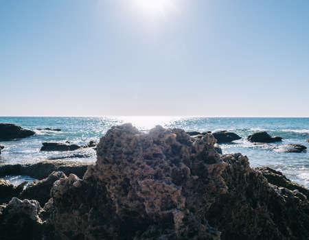 Cadiz rocky beach 版權商用圖片