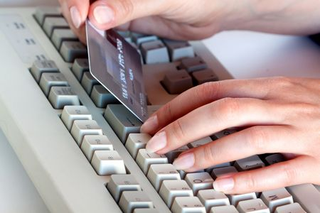 Home shopping: Payment by credit.