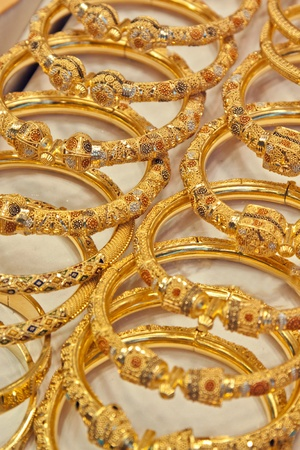 Goldhandcraft in Souk of Dubai.
