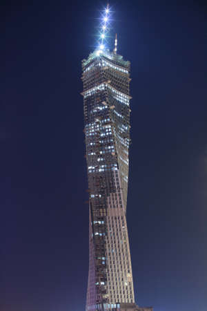 Dubai Marina with Infinity Tower at night. Photo was taken on 3rd of august 2011.