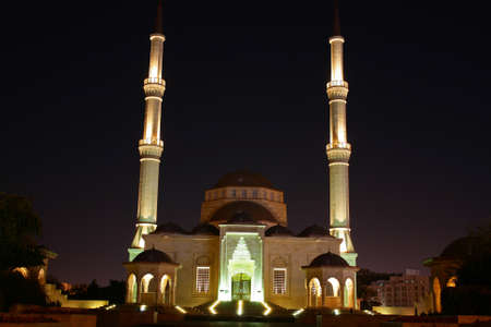 muttrah: Oman, Muscat - Sultan Said bin Taimur mosque Stock Photo