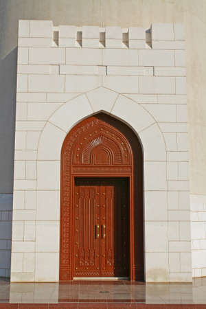 muttrah: Oman, typical architecture of a doorway