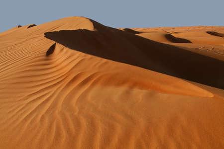 Oman: Sand dunes in the Wahiba Sands desert in Oman Stock Photo