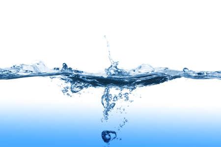 Wasser, plantschen, Foto auf dem weißen Hintergrund Standard-Bild