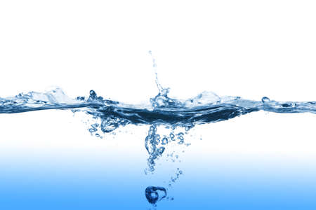 Water splashing, photo on the white background photo