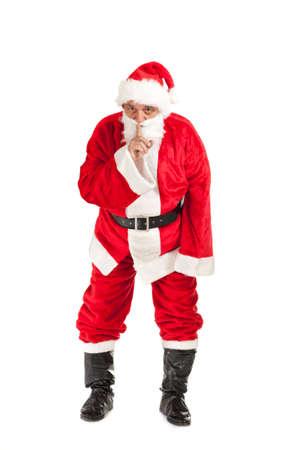 silently: Santa Claus, photo on the white background Stock Photo
