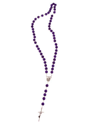 rosary beads: rosary beads, isolated on the white Stock Photo