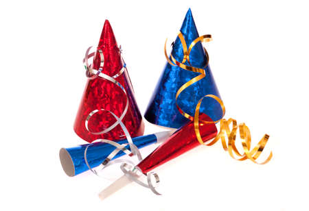 party popper: party items, photo on the white background